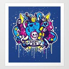 Unlucky Kitty Art Print