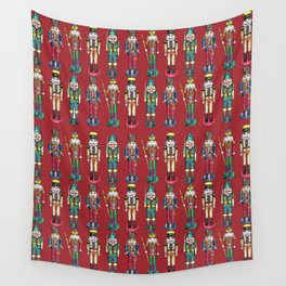 The Nutcracker Prince Pattern Red Wall Tapestry