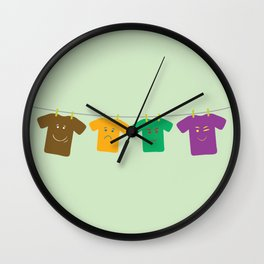 Hanging Tee Family Wall Clock