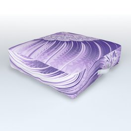 Ultra Violet Luxe Spiral Pattern | Trendy Color of the Year 2018 Outdoor Floor Cushion