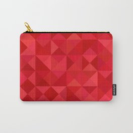 Red triangles Carry-All Pouch