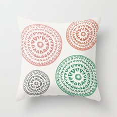 Nuba Garden Throw Pillow