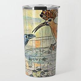 The Crow and the Hoopoe Travel Mug
