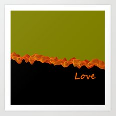 linear love Art Print