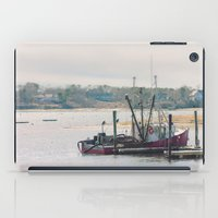 cape cod iPad Cases featuring Cape Cod Fishing Boat by ELIZABETH THOMAS Photography of Cape Cod