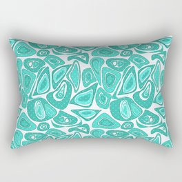 Retro .Turquoise abstraction . Rectangular Pillow