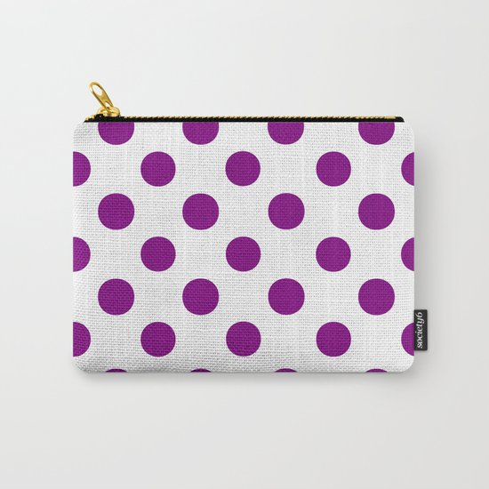 Polka Dots (Purple/White) Carry-All Pouch