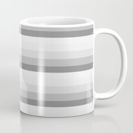 Gray Ombre Stripes Coffee Mug