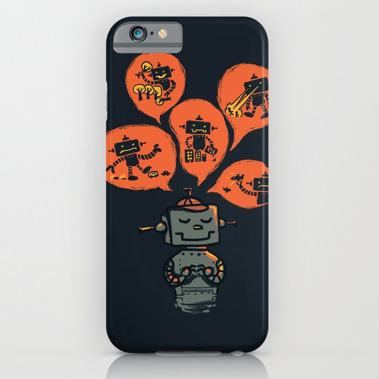 When I grow up - an evil robot dream iPhone & iPod Case