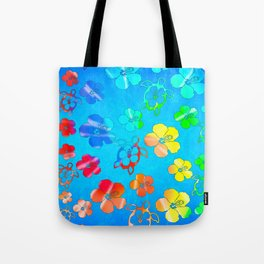 Tie Dye Honu And Hibiscus Tote Bag