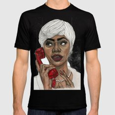 Girl with the Red Telephone Black Mens Fitted Tee MEDIUM