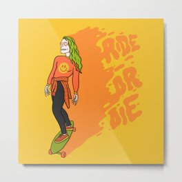 Ride or Die Metal Print