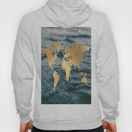 Gold Map in Water Hoody