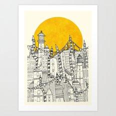 Big Sun Small City Art Print