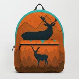Deer silhouette in autumn Backpack