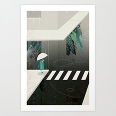 let it rain Art Print