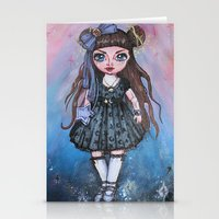 magical girl Stationery Cards featuring Kawaii Magical Girl painting by c-lbi