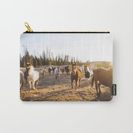 Horses at golden hour Carry-All Pouch