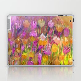 Field of Flowers in Yellow and Pink Laptop & iPad Skin