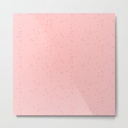 Light Pink Shambolic Bubbles Metal Print
