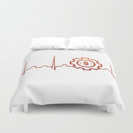 BUSINESS MANAGER HEARTBEAT Duvet Cover