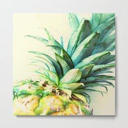 Green Pineapple Metal Print