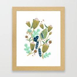 Folk Forest Framed Art Print