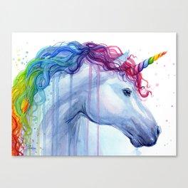 Magical Rainbow Unicorn Canvas Print