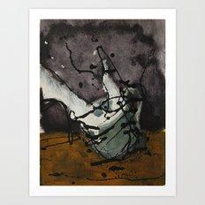 Tinta sobre vaso que se desborda Art Print