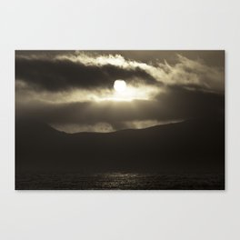 Bay Sunset Canvas Print