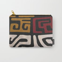 African Mudcloth Print Carry-All Pouch