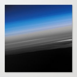 Blue Gray Smooth Ombre Canvas Print