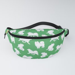 Samoyed Pattern (Green Background) Fanny Pack