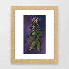 Mermaid Cosmonaut Framed Art Print