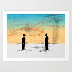 Walt vs Gus Art Print