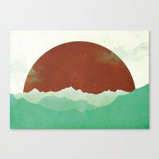 Sunset Valley Canvas Print