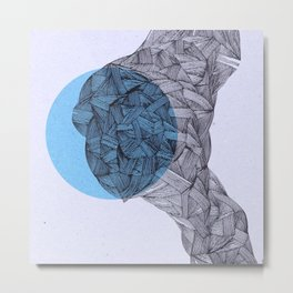- and the moon - Metal Print