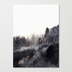 Watercolor abstract landscape 17 Canvas Print