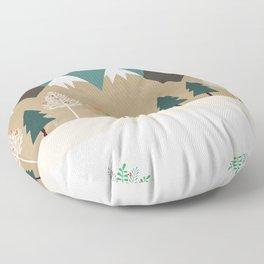 Hello winter Floor Pillow