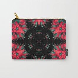 modern red black flower mandala Carry-All Pouch