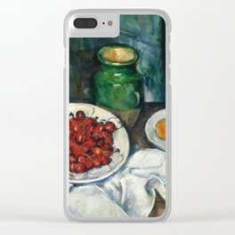 "Paul Cezanne ""Still Life with Cherries and Peaches"" Clear iPhone Case"