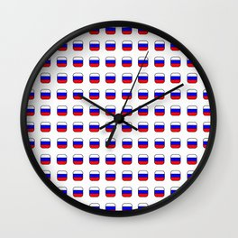 Flag of russia -with soft square Wall Clock