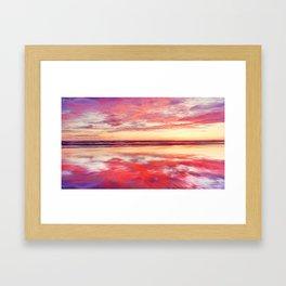 Purple silk Framed Art Print