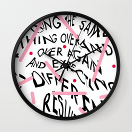 Quote by Albert Einstein Wall Clock