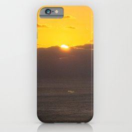Sunrise of Seongsan  as seen from Jimibong in Seongsan, Jeju iPhone Case
