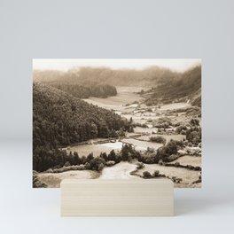 Misty valley Mini Art Print