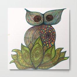 LotusOwl Metal Print