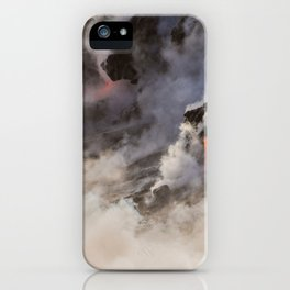 WATER MEETS LAVA iPhone Case