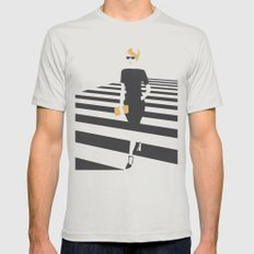 Zebra walk LARGE Mens Fitted Tee Silver
