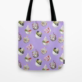 Android Eats: froyo pattern Tote Bag